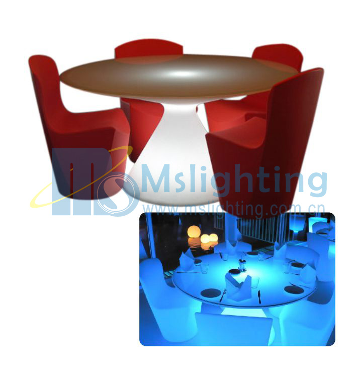 LED Round Coffee Table